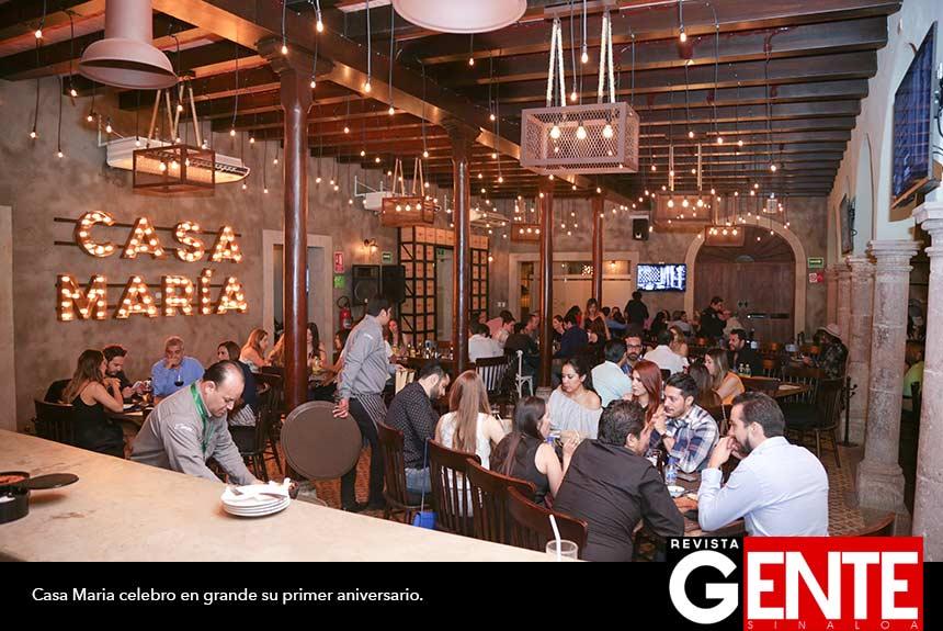 Casa mar a cumple su primer aniversario revista gente sinaloa - Restaurante casa maria ...