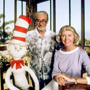 Theodor Geisel (aka children's book author Dr. Seuss) and his wife, Audrey, c. 1981. photo: Robert Phillips / courtesy Everett Collection