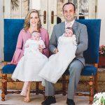 Reciben el bautizo:  Alana y Julia Eng Tachna