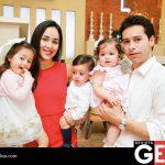 Rebeca Careaga de Meneses y Hueman Meneses Gutiérrez junto a sus hijos Roma, Hueman y Danna Meneses