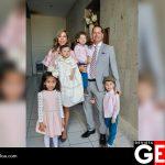 La familia Balderrama Narcio en el bautizo de Divana
