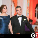 Dinaki Glaros de Esquer y Arturo Esquer Murillo, padres de la novia