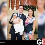 Raúl Vizcarra Avendaño y Ana Kimie Salazar de Vizcarra fungieron como padrinos de la bebé