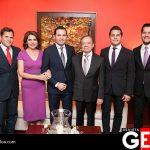 Los Félix Miranda felices por el comprimoso de Alejandro y Delia