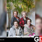 Gracia Conchita de Cárdenas, Amalia Cárdenas de Yáñez, Alicia Cárdenas de Rico e Isabel Cárdenas de Cervantes