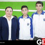 Luz Berthila Acosta, Alan Ricardo López y Emiliano Román