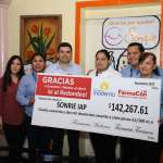 Sonríe I.A.P. recibe donativo para ayudar a niños de Hospital Pediátrico